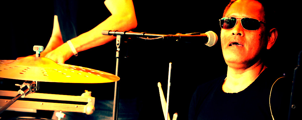 Lamberth on drums